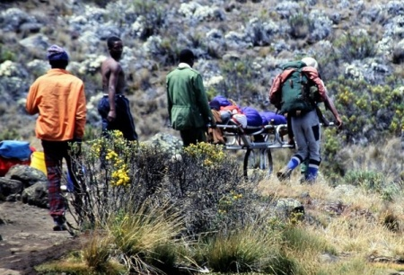 Die Bergrettung am Kilimajaro