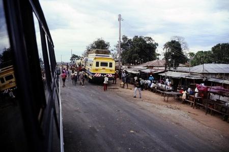 Auf der Ãœberfahrt von Dar es Salaam nach Moshi