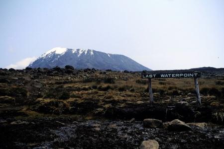 Last Water am Kilimanjaro