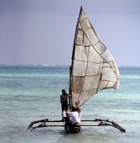 Boot, noch vor dem kentern