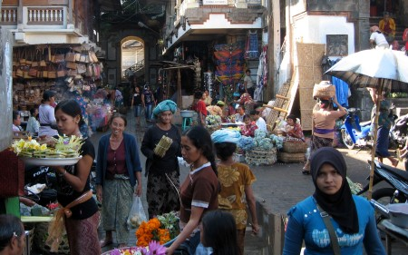 Ein kleiner Teil des Marktes in Ubud